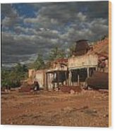 Chillagoe Smelter Wood Print by Gordon  Grimwade