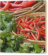 Chillies 04 Wood Print