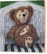 Chilling Bear Wood Print