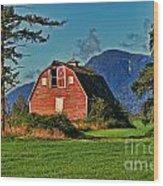 Chilliwack Barn Wood Print