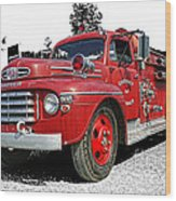 Chilliwack Fire- Mercury Firetruck Wood Print