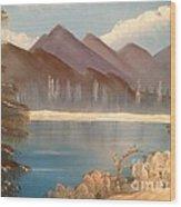 Chilly Mountain Lake Wood Print