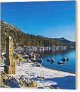 Chimney Beach - Lake Tahoe Wood Print