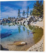 Chimney Beach Lake Tahoe Shoreline Wood Print by Scott McGuire