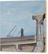Chimney Pipe And Berkeley Sky Wood Print