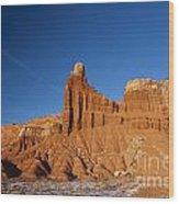 Chimney Rock Capitol Reef National Park Utah Wood Print