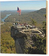 Chimney Rock II Wood Print