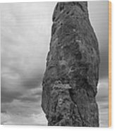 Chimney Rock Wood Print