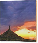Chimney Rock Nebraska Wood Print