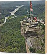 Chimney Rock Overlook Wood Print