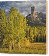 Chimney Rock San Juan Nf Colorado Img 9722 Wood Print