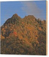 Chimney Tops In Smoky Mountains Wood Print
