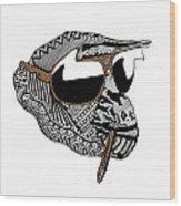 Chimp 10 Wood Print