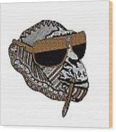 Chimp 3 Wood Print