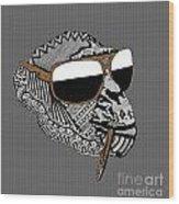 Chimp 4 Wood Print