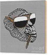 Chimp 6 Wood Print