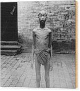 China Famine Victim Wood Print