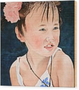 China Doll Wood Print