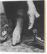 China: Lily Foot, C1900 Wood Print