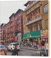 China Town Nyc Wood Print