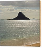 Chinaman's Hat Hawaii Wood Print