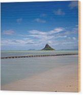 Chinaman's Hat Mokolii In Hawaii Wood Print by Tin Lung Chao