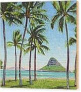 Chinamans Hat - Oahu Wood Print