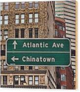 Chinatown Boston Wood Print