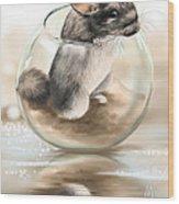 Chinchilla Wood Print