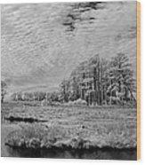 Chincoteague Island Infrared Pano Wood Print