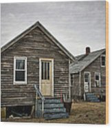 Chincoteague Shanty Wood Print