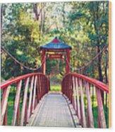 Chinese Bridge Wandiligong Wood Print