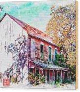 Chinese Camp Hotel II Wood Print