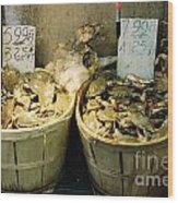 Chinese Crabs For Sale Wood Print