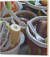 Chinese Food Miniatures 3 Wood Print