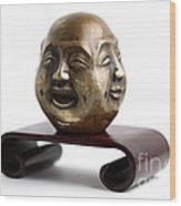 Chinese Four Faced Figure Wood Print