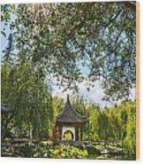 Chinese Garden Sun Wood Print