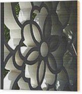Chinese Garden Window Wood Print