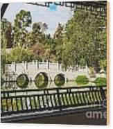 Chinese Garden Window Wood Print