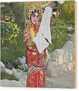 Chinese Opera Girl - In Full Traditional Chinese Opera Costumes. Wood Print
