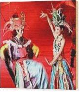 Chinese Opera Wood Print
