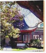 Chinese Sancuary Wood Print