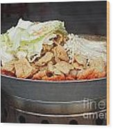 Chinese Spicy Hot Pot Dish Wood Print