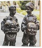 Chinese Statues Wood Print