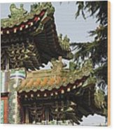 Chinese Temple Roofs Wood Print