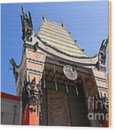 Chinese Theatre In Hollywood Wood Print