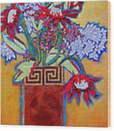 Chinese Vase Wood Print by Diane Fine
