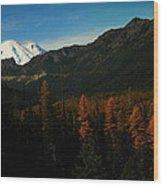 Chinnock Pass From Masatchee Falls Wood Print