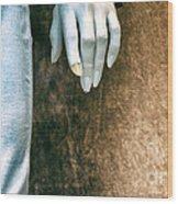 Chipped A Nail Wood Print