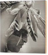 Chippewa Indian Dancer Wood Print by Dick Wood